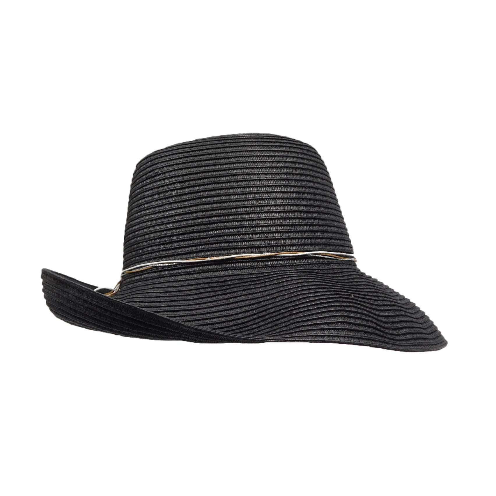 Scala Pronto Black Kettle Brim Hat - SetarTrading Hats