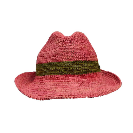 Christy's Crochet Raffia Fedora - SetarTrading Hats