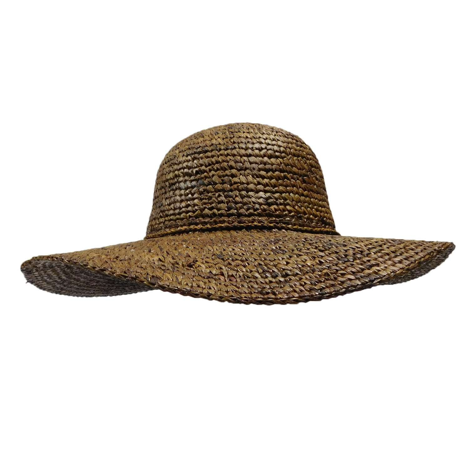 Paris Crochet Raffia Summer Hat by Peter Grimm - Brown - SetarTrading Hats