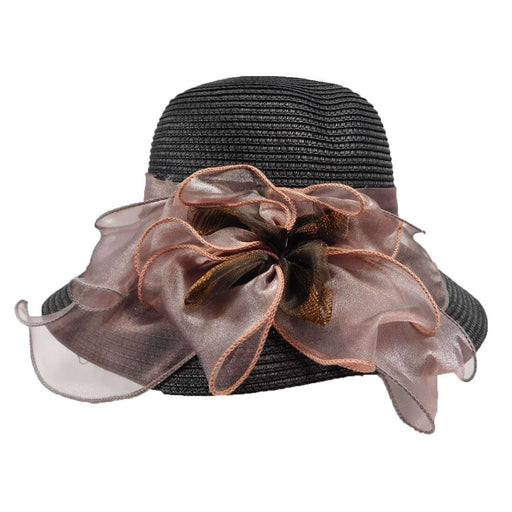 Summer Cloche with Organza Bow - SetarTrading Hats