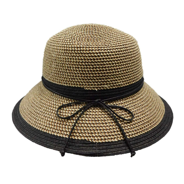 Two Tone Summer Cloche - SetarTrading Hats