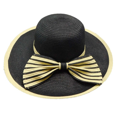 Sun Hat with Striped Bow - SetarTrading Hats