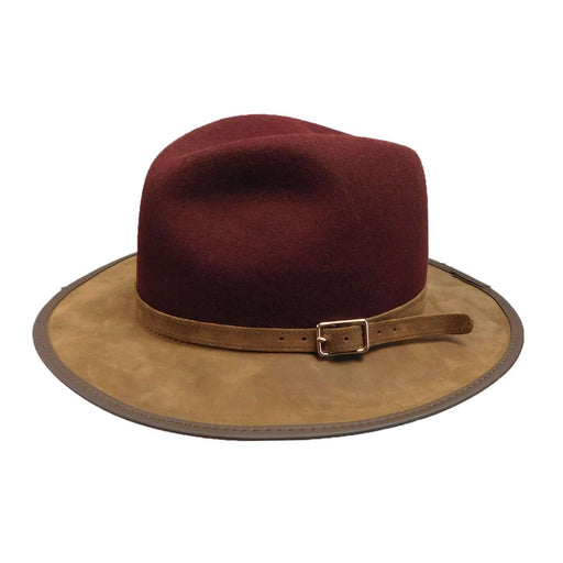 Summit Wool and Leather Outback Hat -Burgundy - SetarTrading Hats