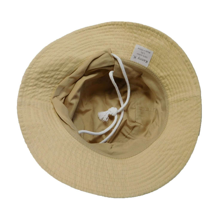 Cotton Bucket Hat with Drawstring - SetarTrading Hats