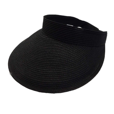 "Traditional straw sun visor with large brim.  Bill has 4.5"" peak (widest on front).  Velcro closure.  Packable.  UPF 50+ rating."