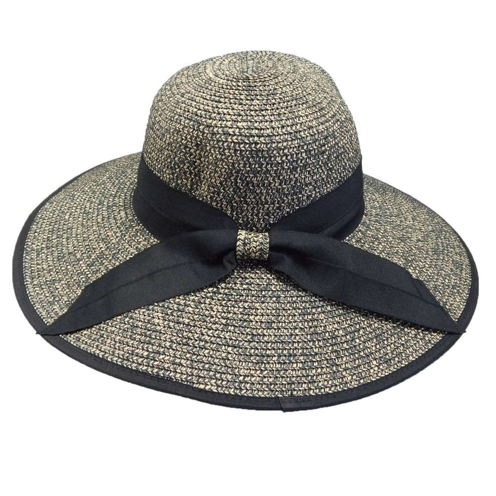Heather Capeline Hat with Bow - Black - SetarTrading Hats
