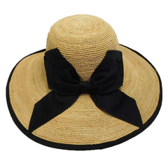 Fine Raffia Sun Hat with Large Bow - SetarTrading Hats
