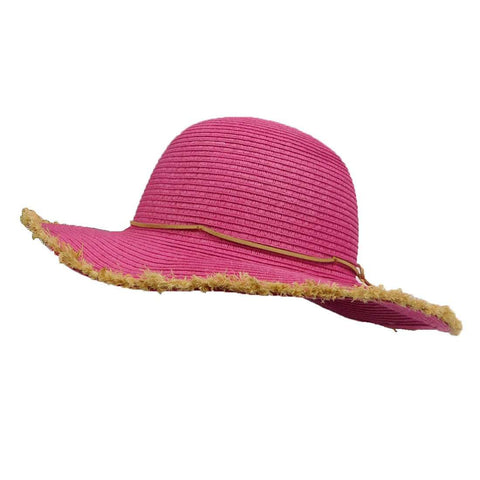 Girl's Straw Sun Hat with Fringe