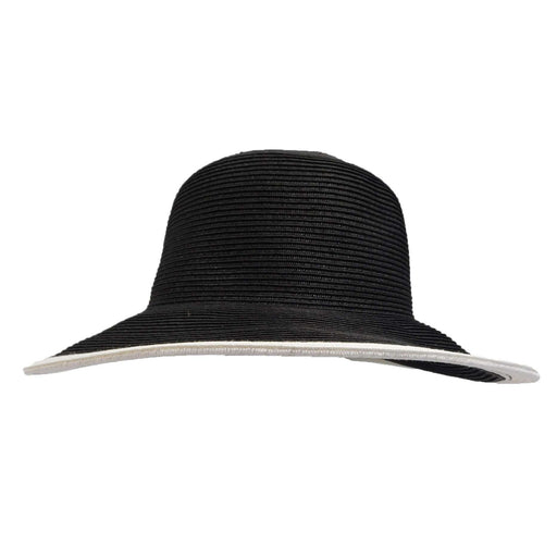 Black and White Sun Hat with Bow - SetarTrading Hats