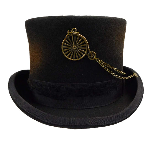 Antiqued Steampunk Top Hat - SetarTrading Hats