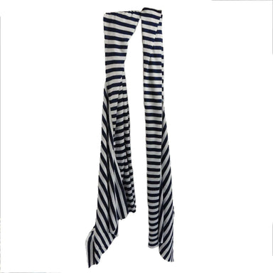 Black and Ivory Striped Scarf - SetarTrading Hats