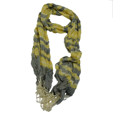 Yellow and Grey Striped Scarf - SetarTrading Hats