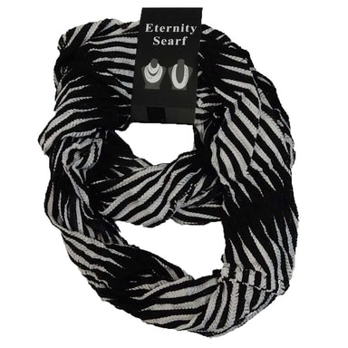 Black and White Infinity Scarf - SetarTrading Hats