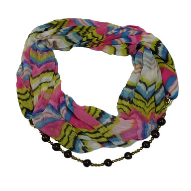 Jewelry Infinity Scarf - Pink - SetarTrading Hats