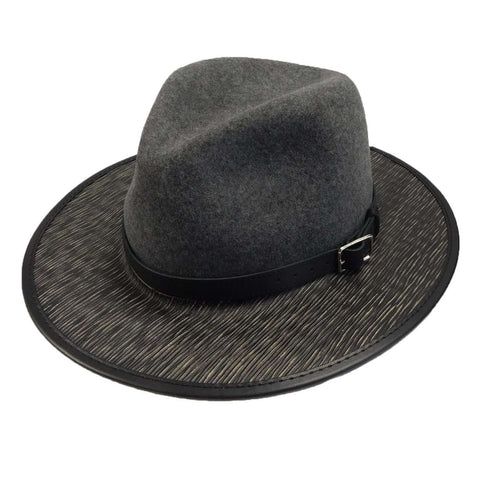 Summit Wool and Leather Outback Hat -Granite