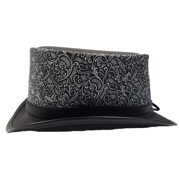 Dante Leather Steampunk Top Hat - Black - SetarTrading Hats