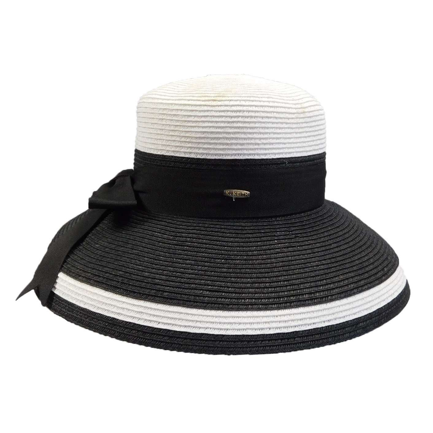 8a2512fec18 Tiffany Style Summer Hat by Karen Keith - Black and White