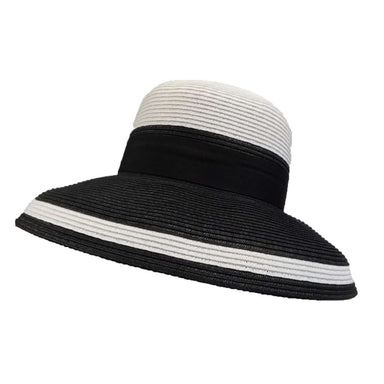 Tiffany Style Summer Hat - Black and White - SetarTrading Hats