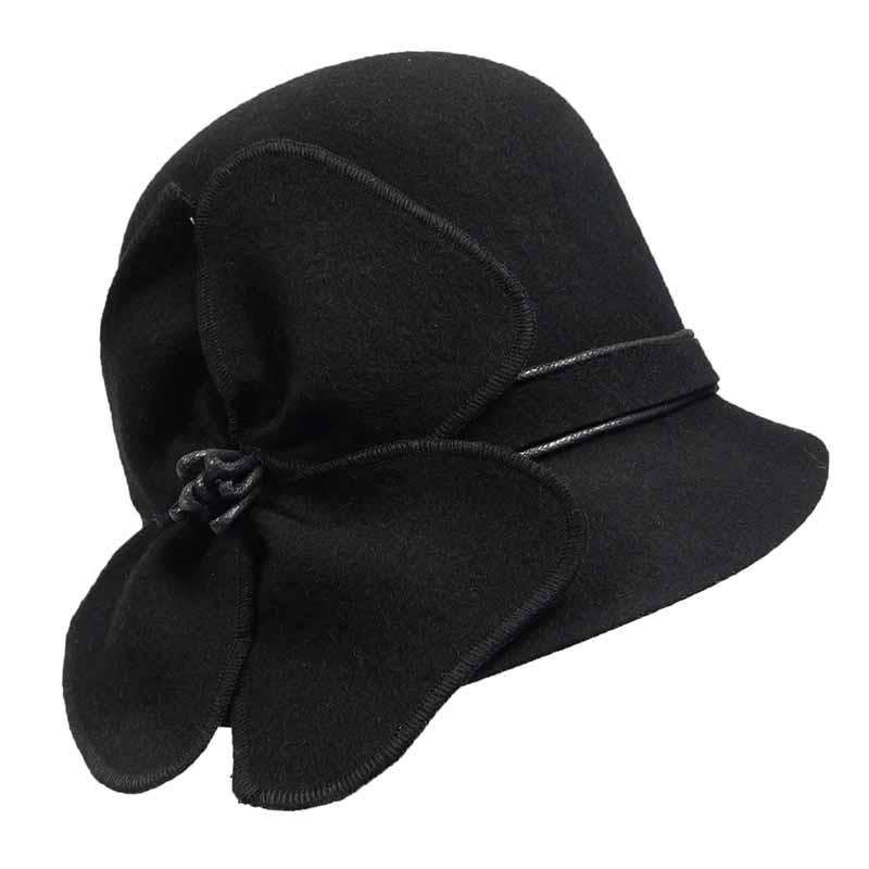 Petal Wool Felt Cloche by JSA for Women - SetarTrading Hats