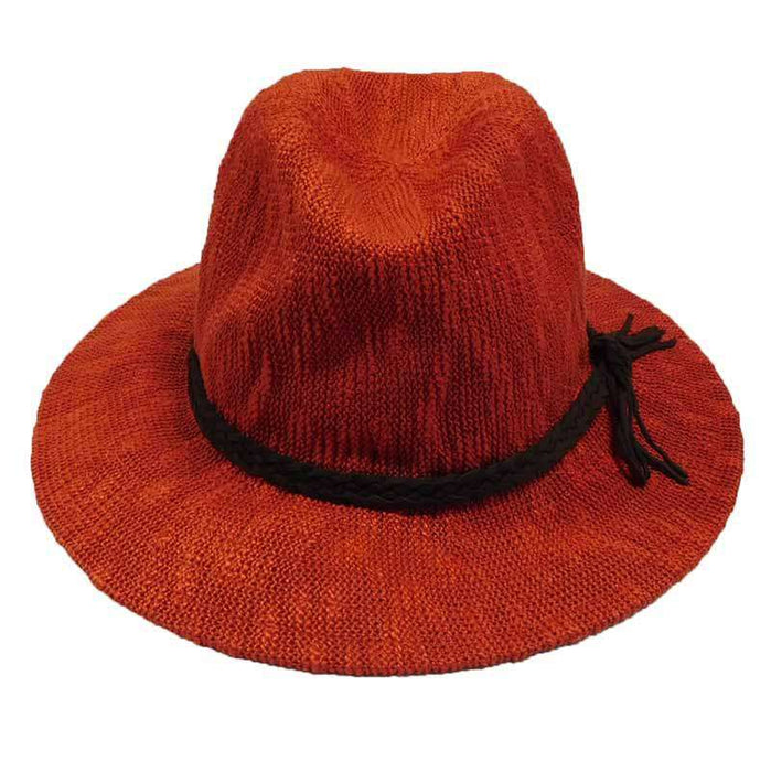 Knit Safari Hat with Suede Band - SetarTrading Hats