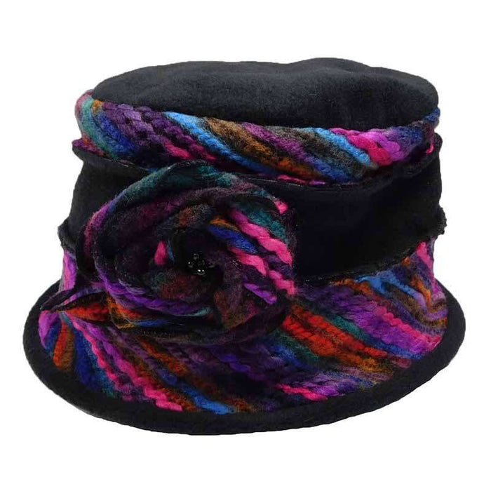 Fleece Beanie with Colorful Thread Accent by JSA for Women - SetarTrading Hats