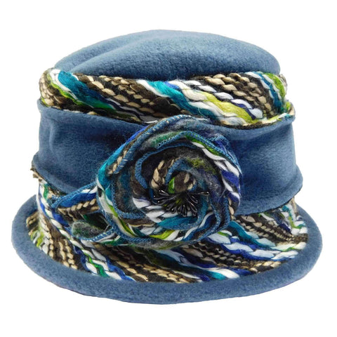 Fleece Beanie with Colorful Thread Accent by JSA for Women