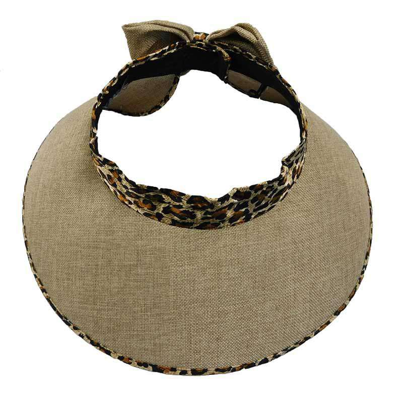 Leopard Pattern Trim Roll Up Sun Visor - SetarTrading Hats
