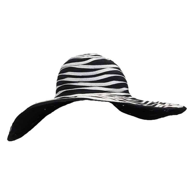 Ribbon and Straw Two Tone Sun Hat - SetarTrading Hats