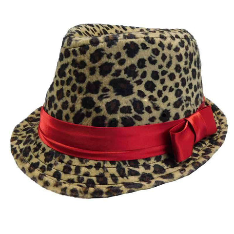 Girl's Cheetah Fedora