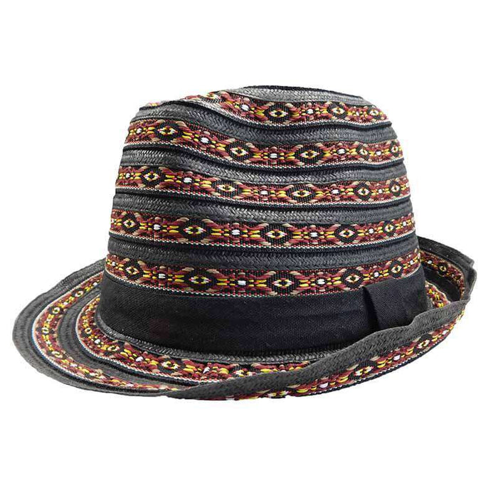 Multicolor Tribal Pattern Fedora - SetarTrading Hats