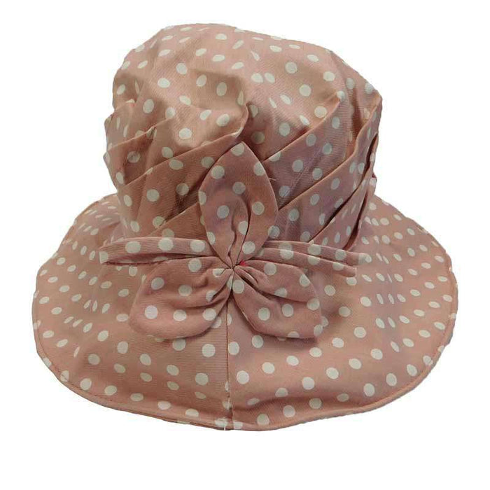 Pleated Crown Polka Dot Cloche - SetarTrading Hats