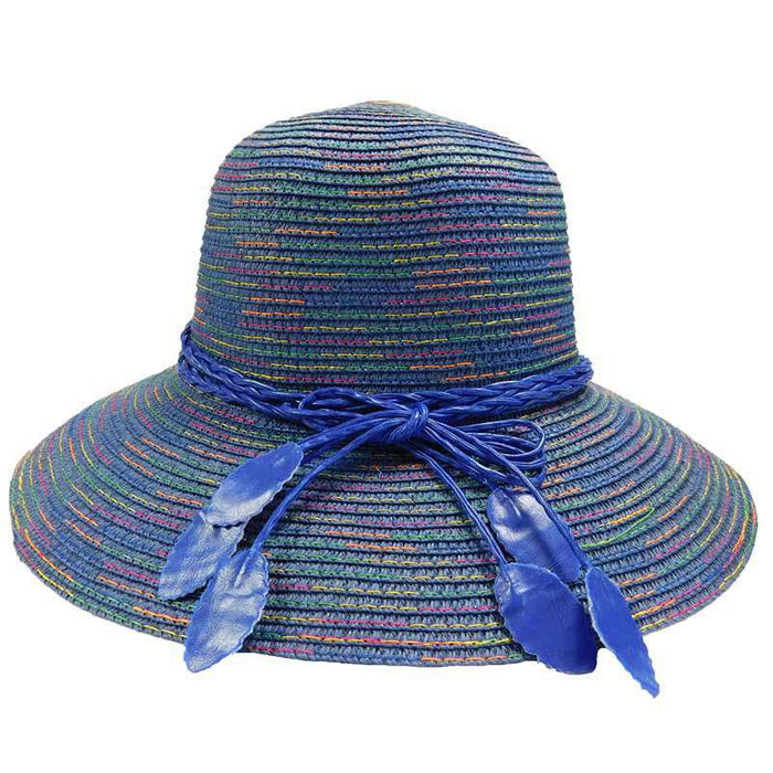 Big Brim Cloche with Rainbow Stitching - SetarTrading Hats