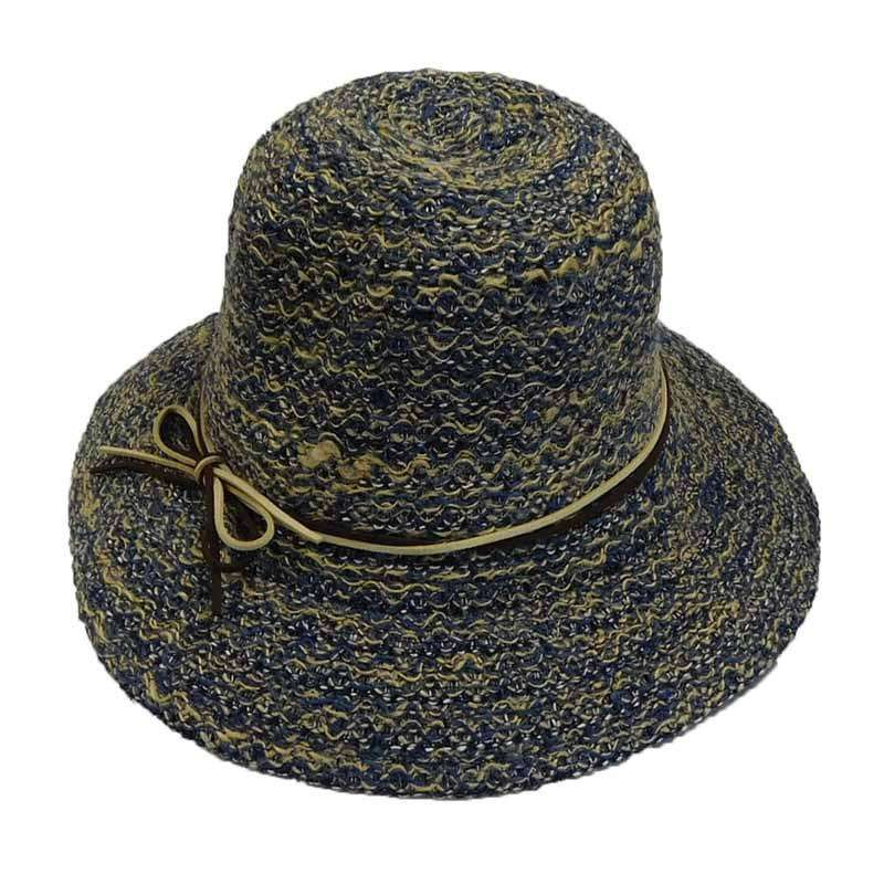 Linen Braid Cloche with Leatherette Tie - SetarTrading Hats
