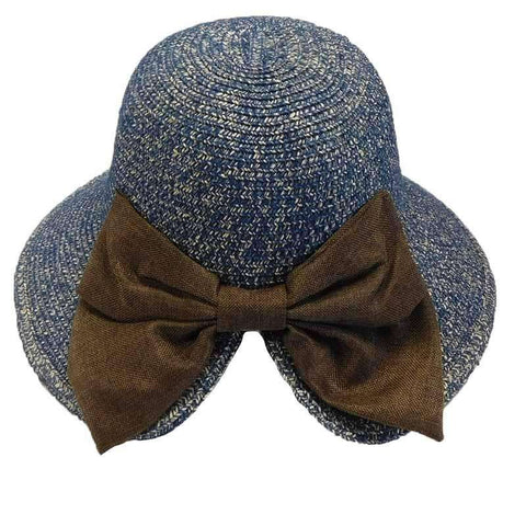 V-Back Cloche with Linen Bow