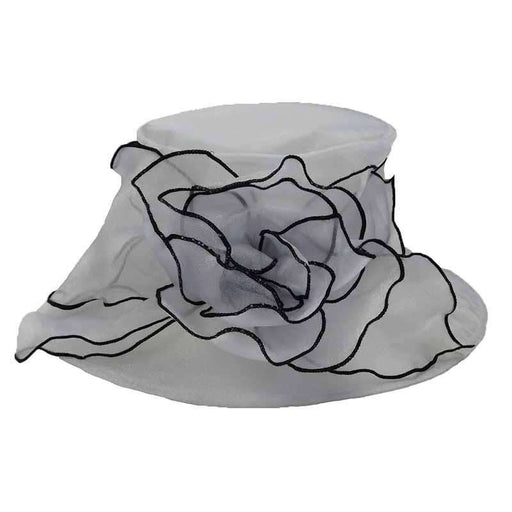 Organza Hat with Contrast Trim - SetarTrading Hats