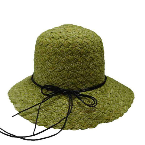 Twisted Poly-Braid Summer Hat by JSA for Women