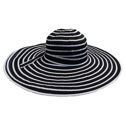 Black and White Large Brim Sun Hat