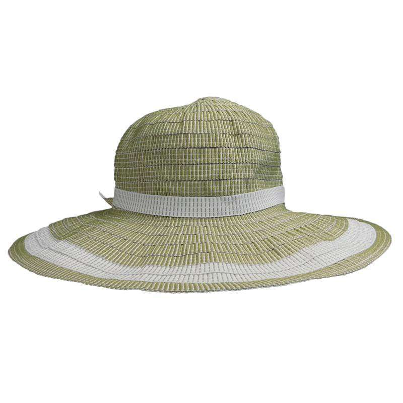 Two Tone Flat Brim Sun Hat - SetarTrading Hats