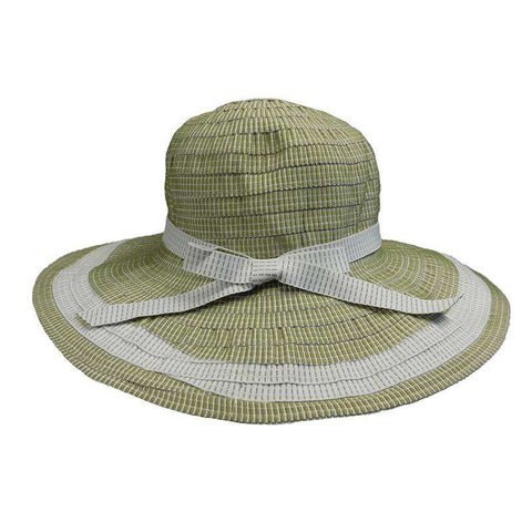 Two Tone Flat Brim Sun Hat
