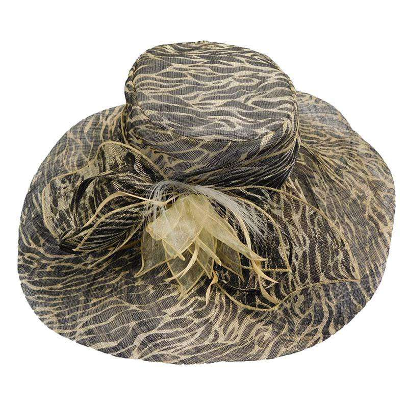 Animal Print Sinamay Hat - SetarTrading Hats