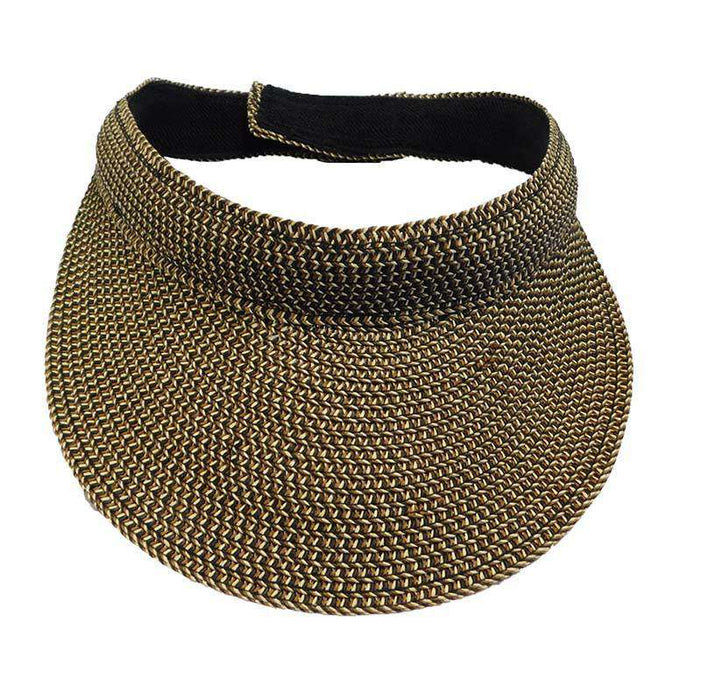Tweed Straw Sun Visor - SetarTrading Hats