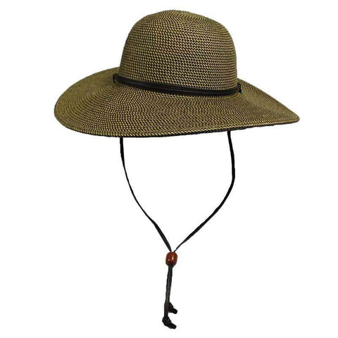 Tweed Summer Hat with Chin Strap by JSA for Women