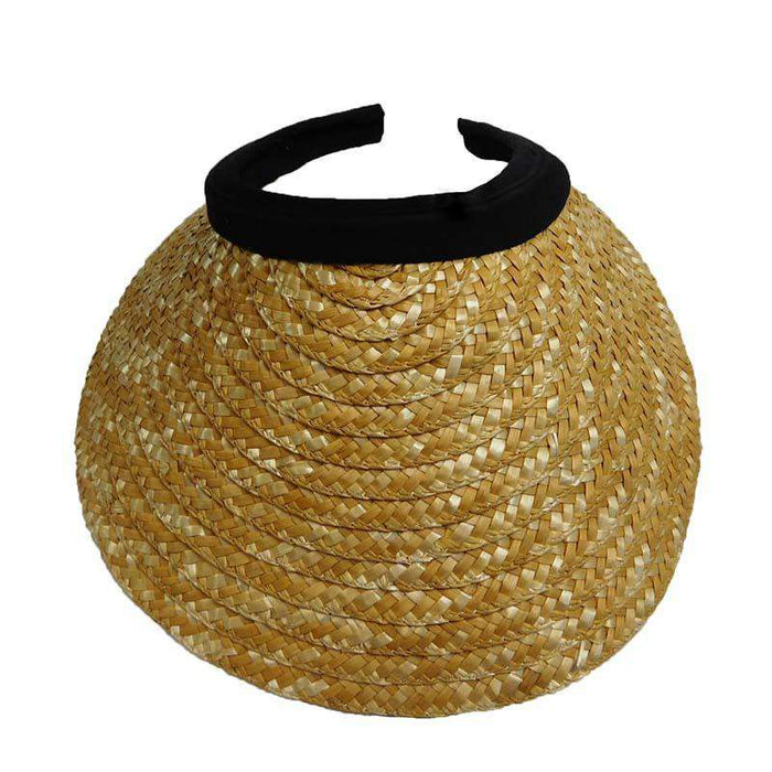 Natural Straw Clip-on Sun Visor - SetarTrading Hats