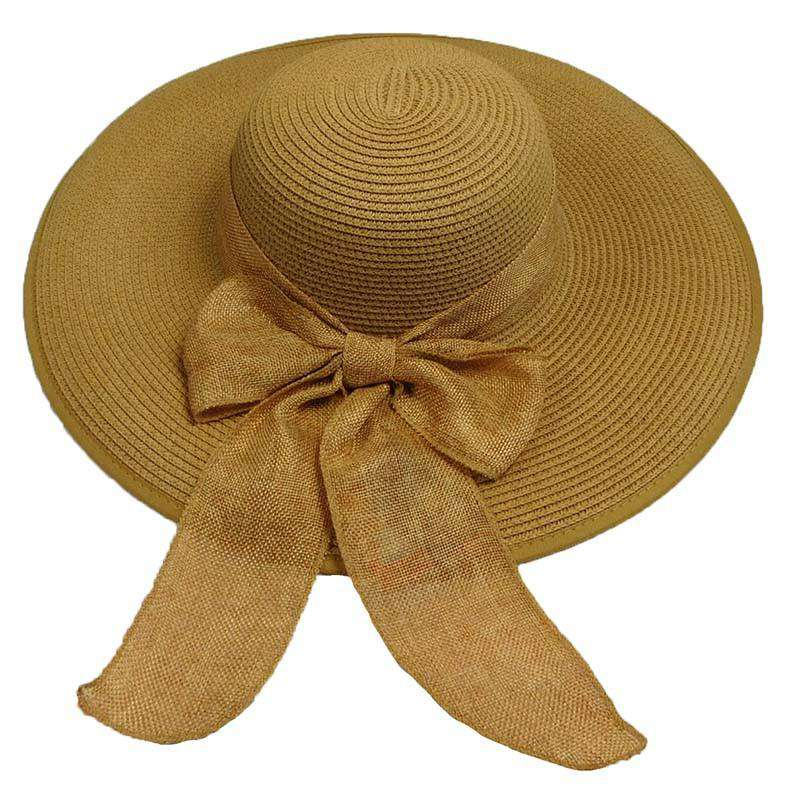 Summer Floppy Hat with Linen Scarf by Milani - SetarTrading Hats