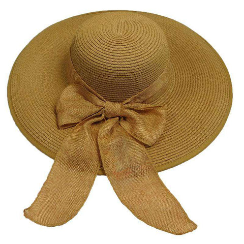 Summer Floppy Hat with Linen Scarf by Milani