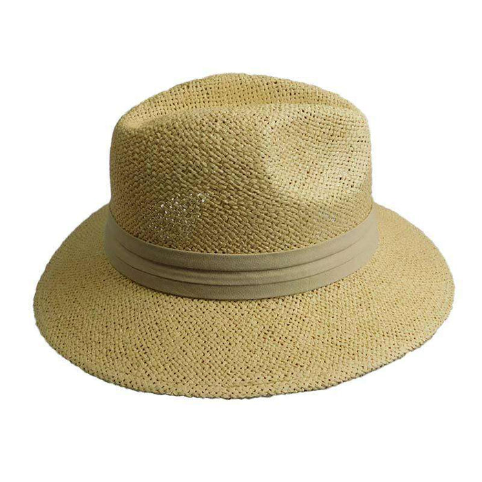 Woven Toyo Safari Hat with Khaki Band by Milani - SetarTrading Hats