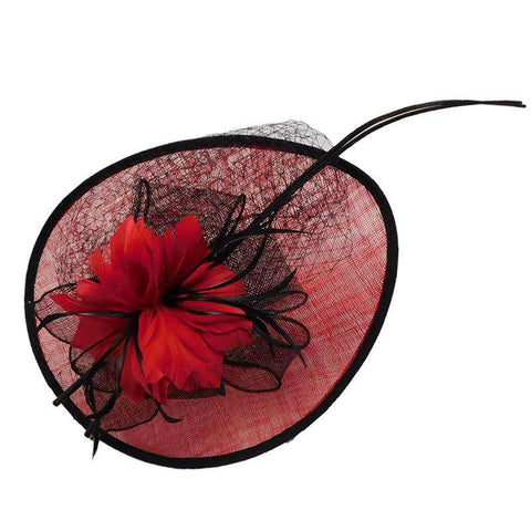 Feather Flower Sinamay Fascinator