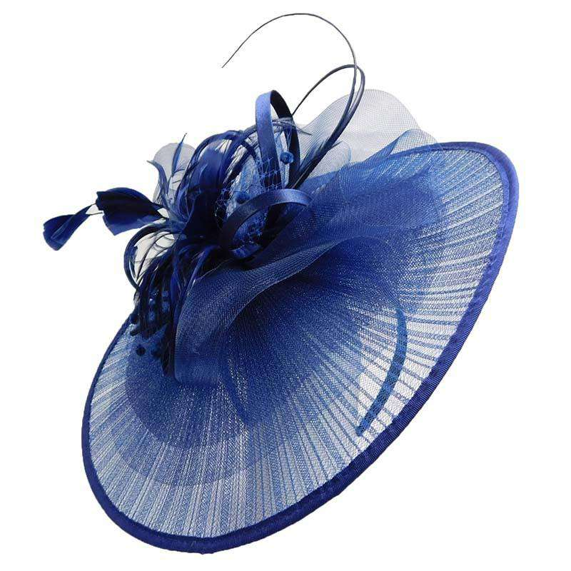 Asian Fan Feather Fascinator - SetarTrading Hats