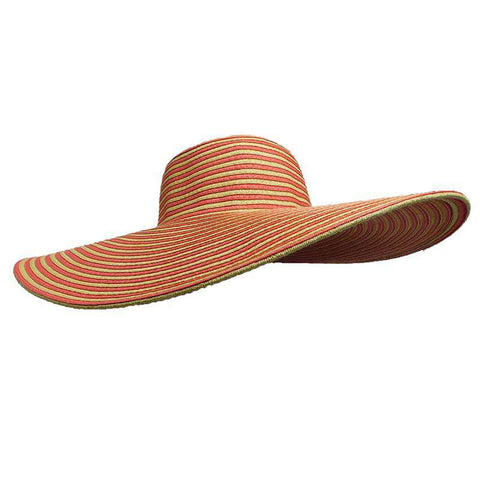 Extra Large Brim Striped Sun Hat