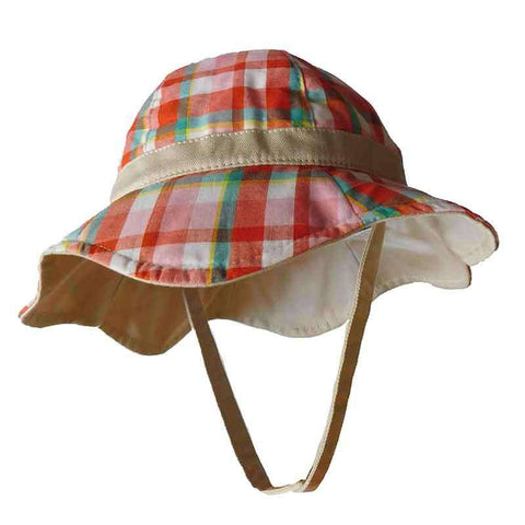 Plaid Cotton Sun Hat for Girls - Scala Kids